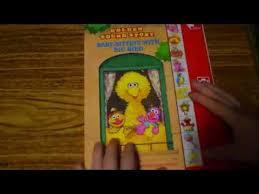 babysitting with big bird golden sound story sesame play a