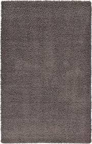 Solid Gray Area Rug by Amazon Com Unique Loom Modern Plush Solid Shag Graphite Gray