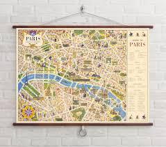 Where To Buy Maps Buy Nappa Dori Paris Map Chart Posters Online