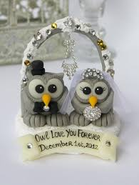 owl cake toppers owl bling cake topper bird wedding cake topper with snow