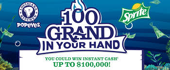 win 100 000 cash on sprite u0026 popeyes 100 grand in your hand