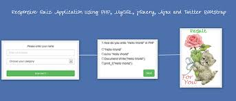 responsive quiz application using php mysql jquery ajax and