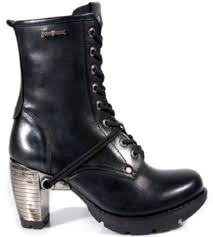 womens leather biker boots mens and womens new rock boots m tr001 s1