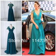 2013 v neck cap sleeves lace evening dresses kate middleton