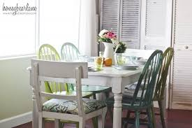 Painted Kitchen Tables And Chairs by Dining Room Reveal Painted Kitchen Tables Green Dining Room And