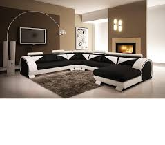 modern black and white leather sectional sofa white modern sectional leather sofa video and photos