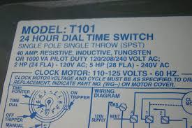 intermatic time switch single pole single throw 40amp 2hp 120v ac