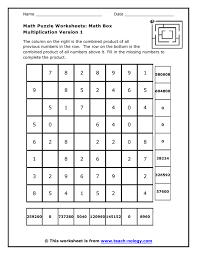 collections of math puzzle easy worksheet ideas collections