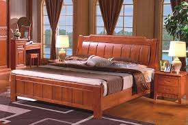 Wooden Framed Beds High Quality China Guangdong Furniture Solid Wood Frame Bed