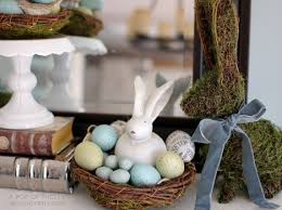 Homesense Easter Decorations easter decorating ideas mossy bunny easter mantel a pop of