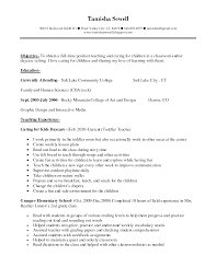 Sample Career Objective For Teachers Resume by Daycare Teacher Resume Uxhandy Com