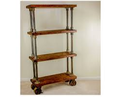 wooden bookshelf etsy