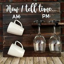 wine a little laugh a latte how to tell time wine glass hooks