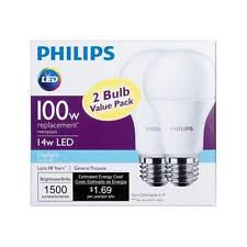 philips 462002 100w equivalent daylight led light bulb 2 pack ebay