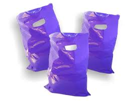 purple gift bags purple plastic merchandise bags size 15 x 18 x 4 colored party