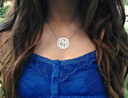 monogrammed necklaces la fashionista lust monogram necklaces