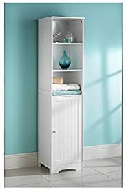 tall white shaker style bathroom cabinet free standing amazon