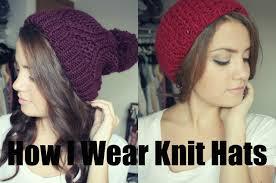 how i wear knit hats youtube