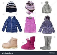 child girl clothes set isolated on stock photo