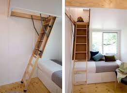 tiny house company swallowtail tiny house hides its stair in the ceiling video