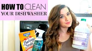 how to clean your dishwasher with vinegar and baking soda youtube