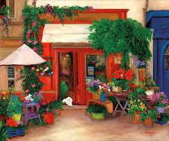 flower shop the flower shop artwork by betty lou barry