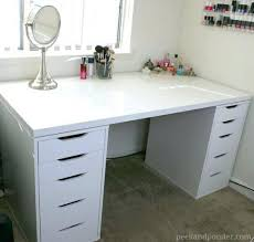 vanities white dressing table with drawers either side white