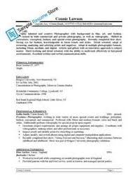 photography resume template resume format download pdf