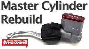 how to rebuild a master cylinder on a motorcycle or atv youtube