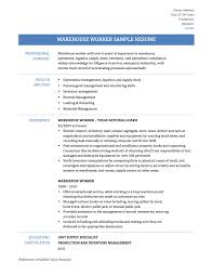 Warehouse Sample Resume by Warehouse Sample Resume Resume For Your Job Application