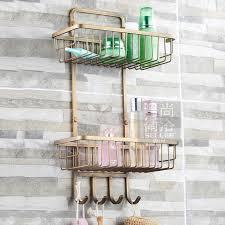 Bathroom Caddies Shower Free Shiping Antique Bronze Copper 2 Tier Bathroom Organizer