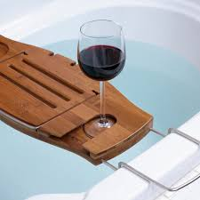 Clawfoot Bathtub Caddy Bathtub Tray For Your Bathroom Accessories Brown Wooden Bathtub