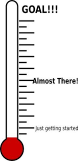 Printable Money Saving Thermometer Blank Thermometer Template Thermometer For Fundraising Template