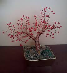 copper wire tree beaded by ladydracos on deviantart