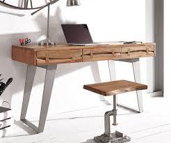 Schreibtisch Computer Schreibtisch Live Edge 137x56 Cm Akazie Natur Baumkante Möbel