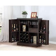 Oak Bar Cabinet Eci Furniture Rum Pointe Expandable Bar Cabinet In Black Oak