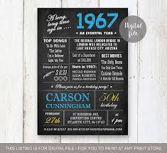 50th birthday invitation for men chalkboard invitation for