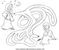 nicodemus seeks jesus coloring maze coloring jesus