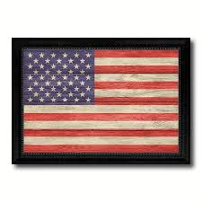 Country American Flag Usa Country Texture Flag Rustic Vintage Giclée Print Home Decor