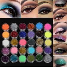 30 colors 1 set glitter spangle eye shadow powder pigment kit