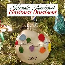 easy keepsake thumbprint ornament the moody