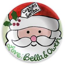 personalized cookie time santa plate