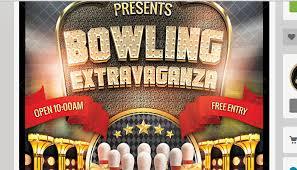 4 bowling fundraiser flyer templates af templates