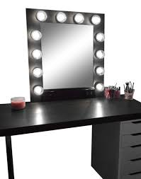 Bedroom Vanity Mirror With Lights Enchanting Black And White Makeup Vanity Ideas Best Ideas