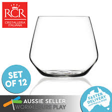 wine sler gift set 12x rcr wine glass tumbler premium italian glass high