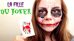 halloween makeup la fille du joker youtube