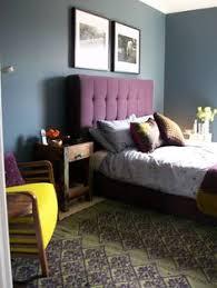 Dark Purple Bedroom by Habitat Art Frames Above Bed Bedroom Wall Dulux Steel Symphony