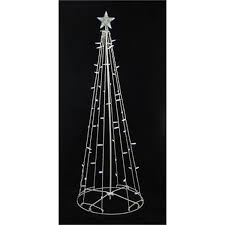 6 u0027 pure white led lighted outdoor christmas cone tree yard art