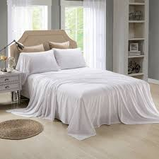 honeymoon extreme soft 4pc bed sheet set white sheet set