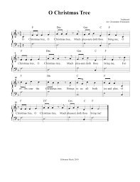 christmas sheet music o christmas tree sheet music and song for